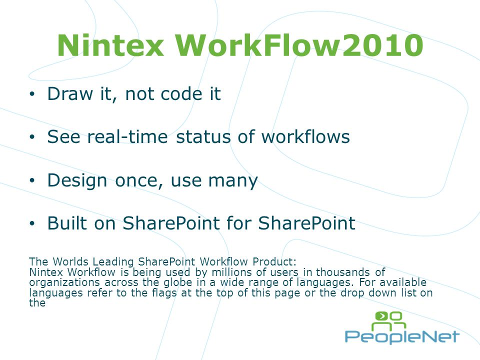 Nintex WorkFlow2010 Draw it, not code it