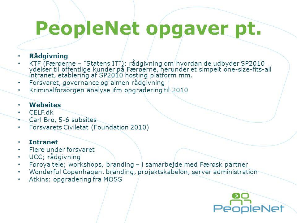 PeopleNet opgaver pt. Rådgivning