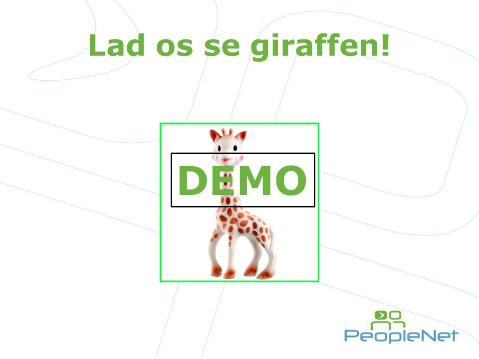 Lad os se giraffen! DEMO Listerne, kolonerne, bibliotekerne