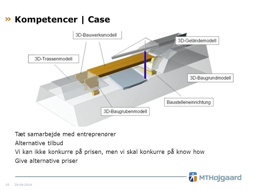 Kompetencer | Case Tæt samarbejde med entreprenører Alternative tilbud