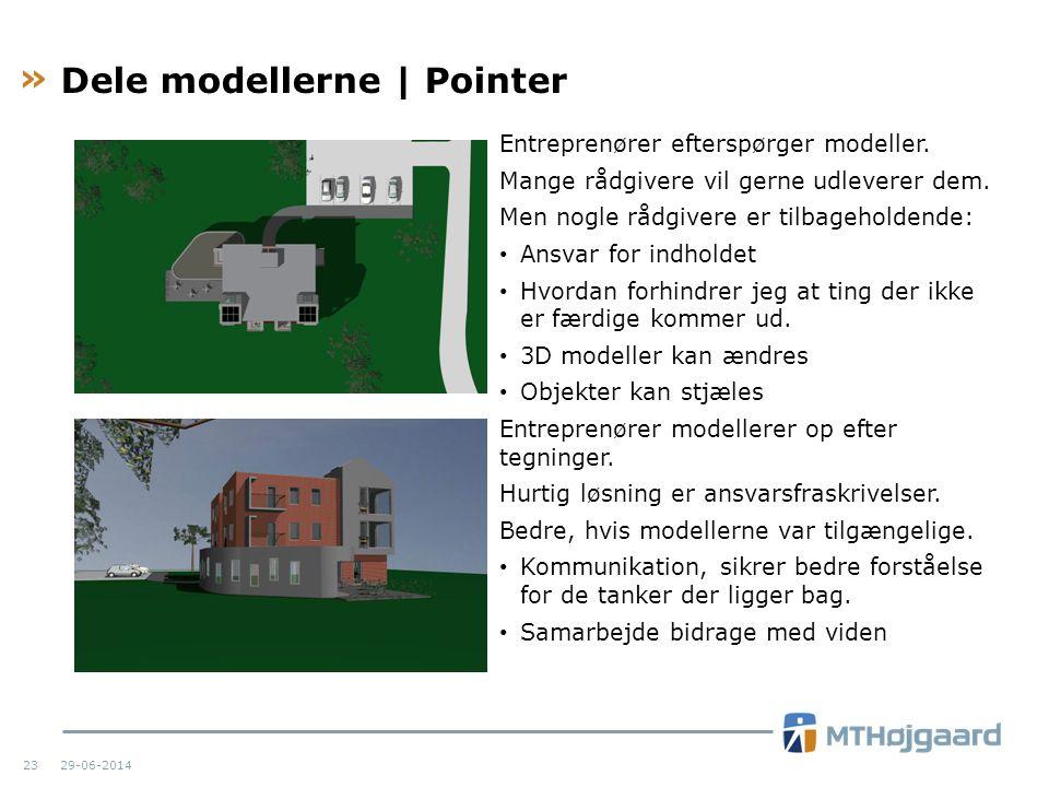 Dele modellerne | Pointer