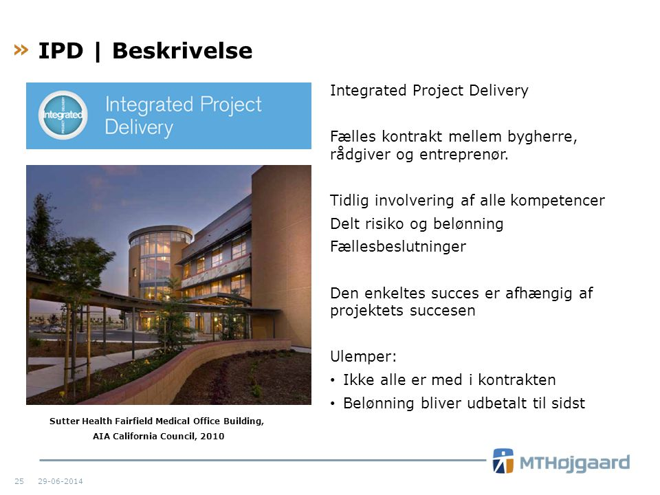IPD | Beskrivelse Integrated Project Delivery