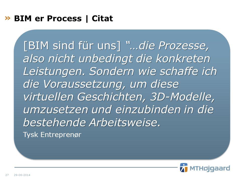 BIM er Process | Citat