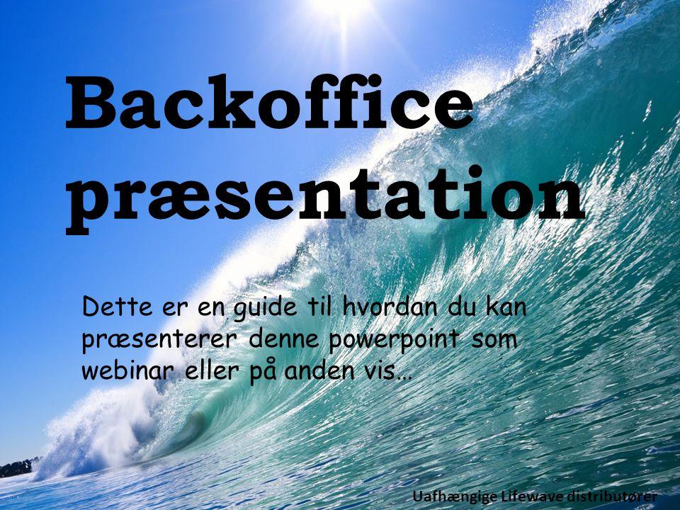 Backoffice præsentation