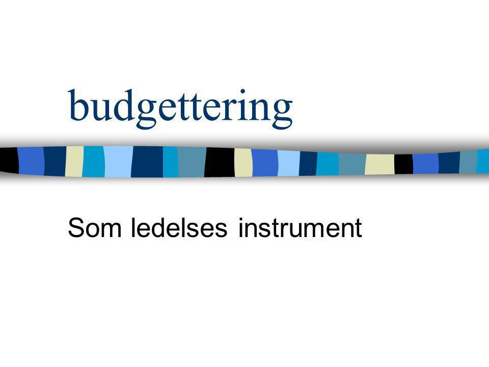 Som ledelses instrument