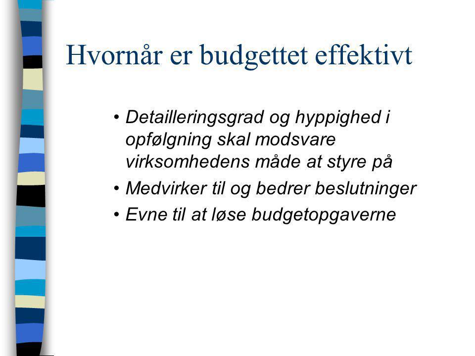 Hvornår er budgettet effektivt
