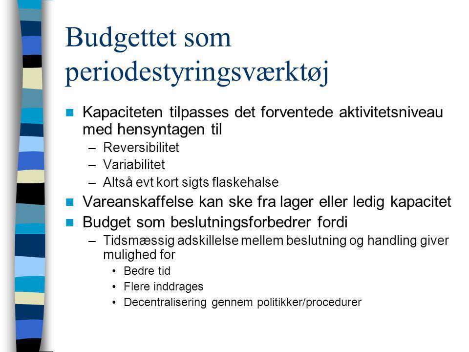 Budgettet som periodestyringsværktøj