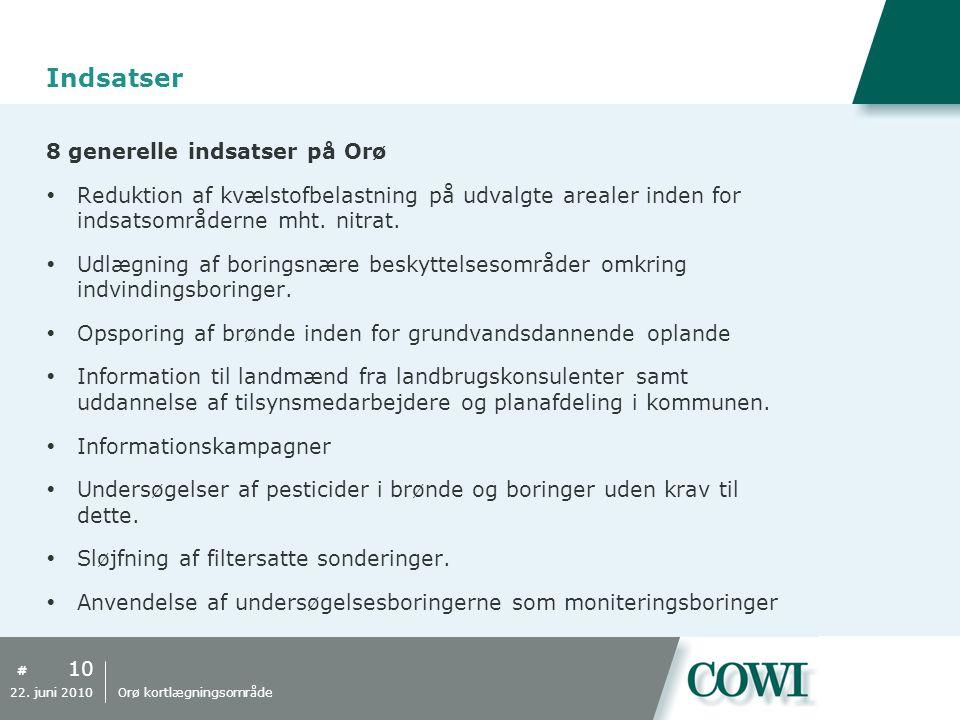 Indsatser 8 generelle indsatser på Orø
