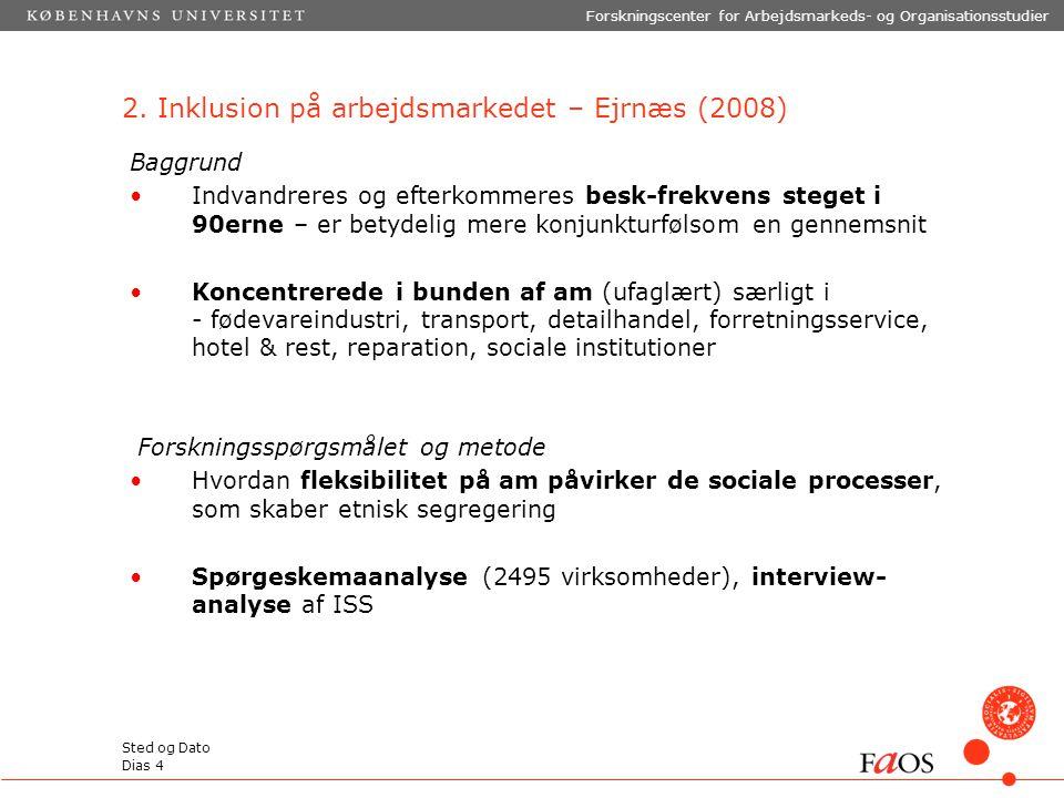 2. Inklusion på arbejdsmarkedet – Ejrnæs (2008)