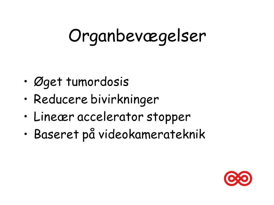 Organbevægelser Øget tumordosis Reducere bivirkninger