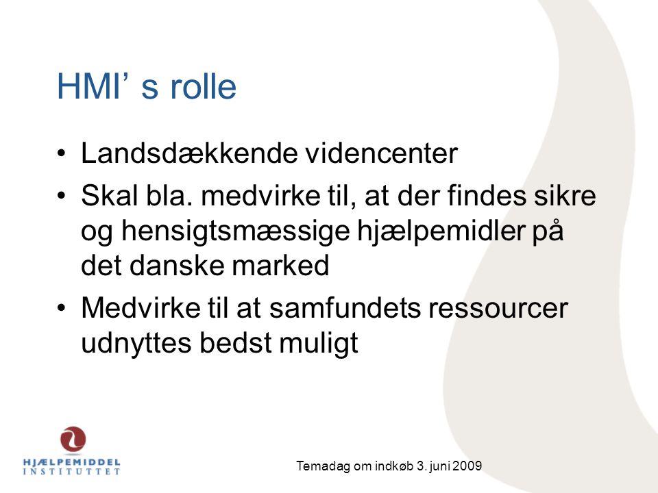 HMI' s rolle Landsdækkende videncenter