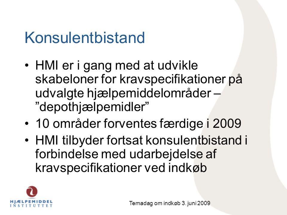 Konsulentbistand HMI er i gang med at udvikle skabeloner for kravspecifikationer på udvalgte hjælpemiddelområder – depothjælpemidler