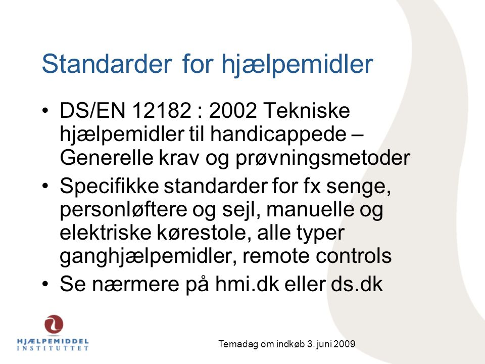 Standarder for hjælpemidler