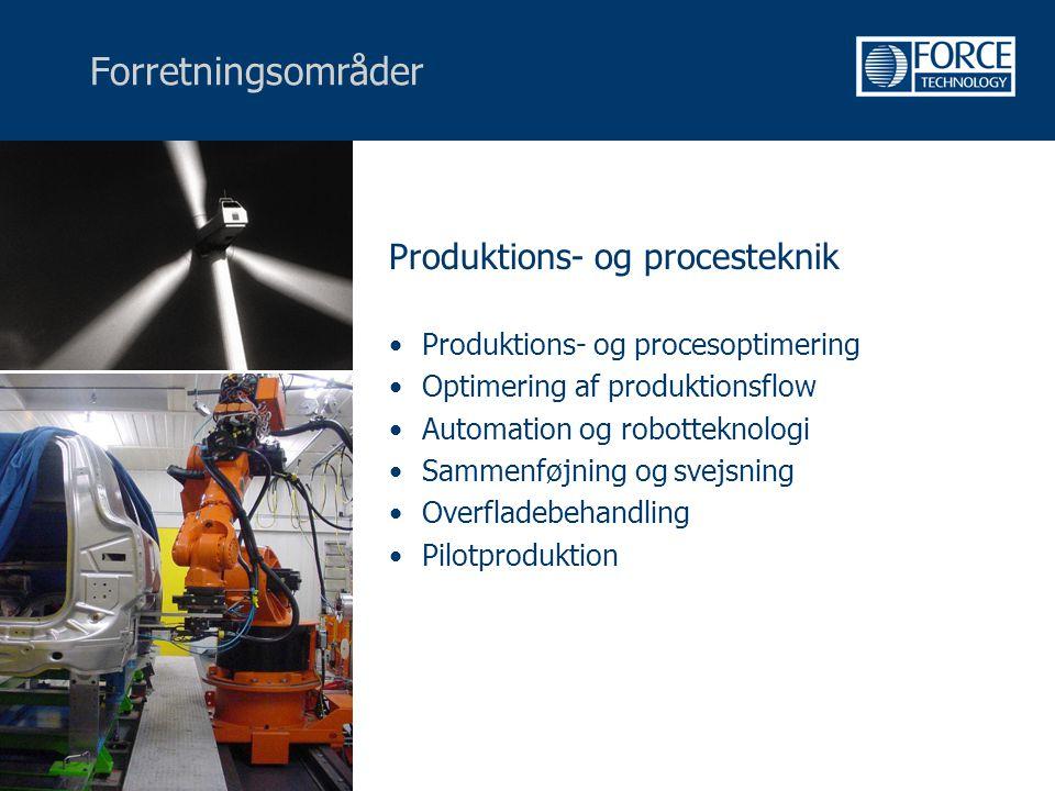 Forretningsområder Produktions- og procesteknik