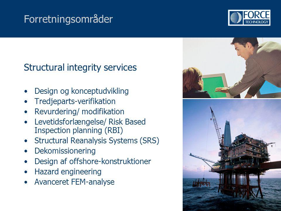 Forretningsområder Structural integrity services