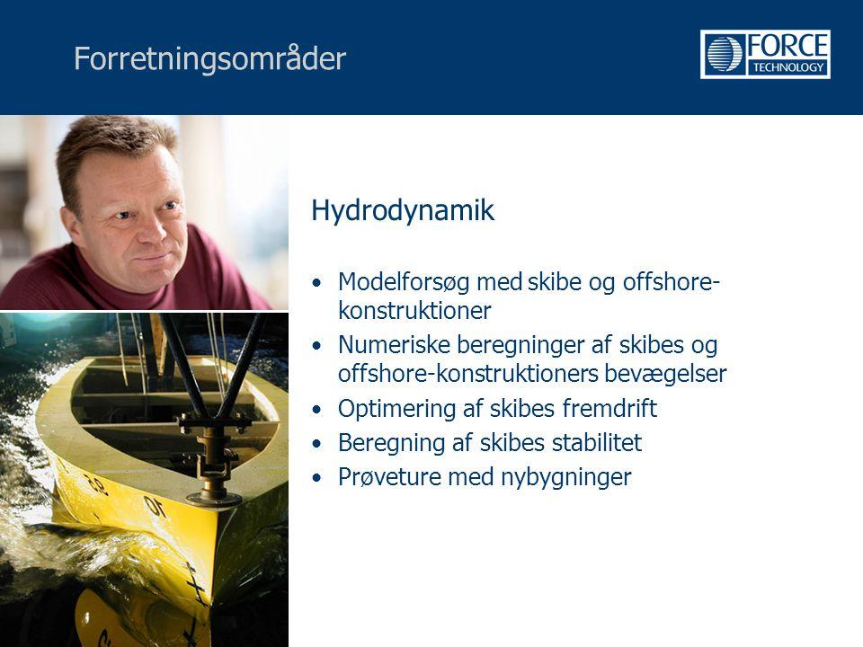 Forretningsområder Hydrodynamik