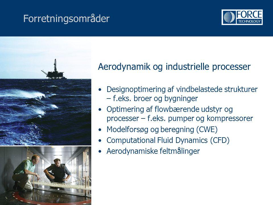 Forretningsområder Aerodynamik og industrielle processer