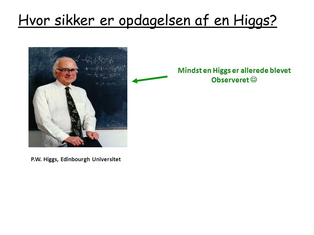 Mindst en Higgs er allerede blevet Observeret 