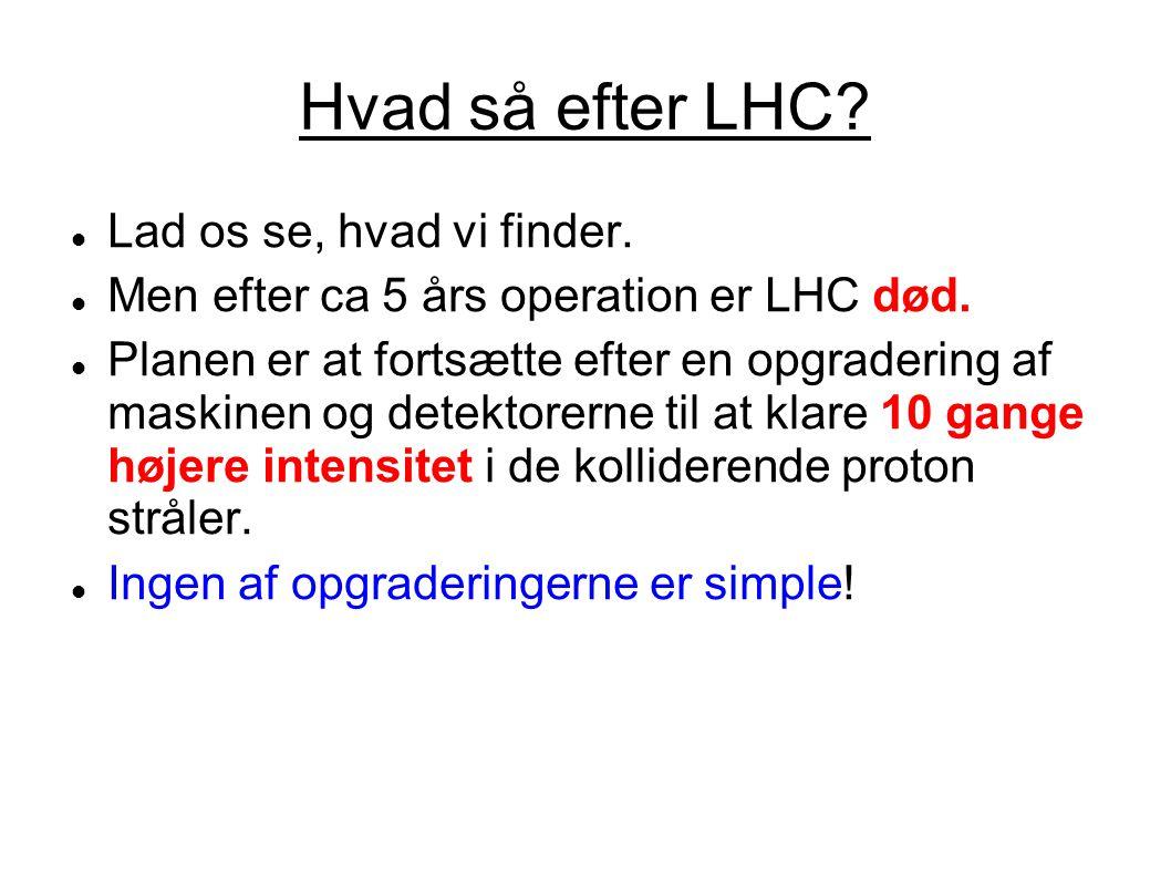Hvad så efter LHC Lad os se, hvad vi finder.