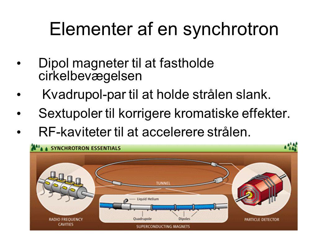 Elementer af en synchrotron