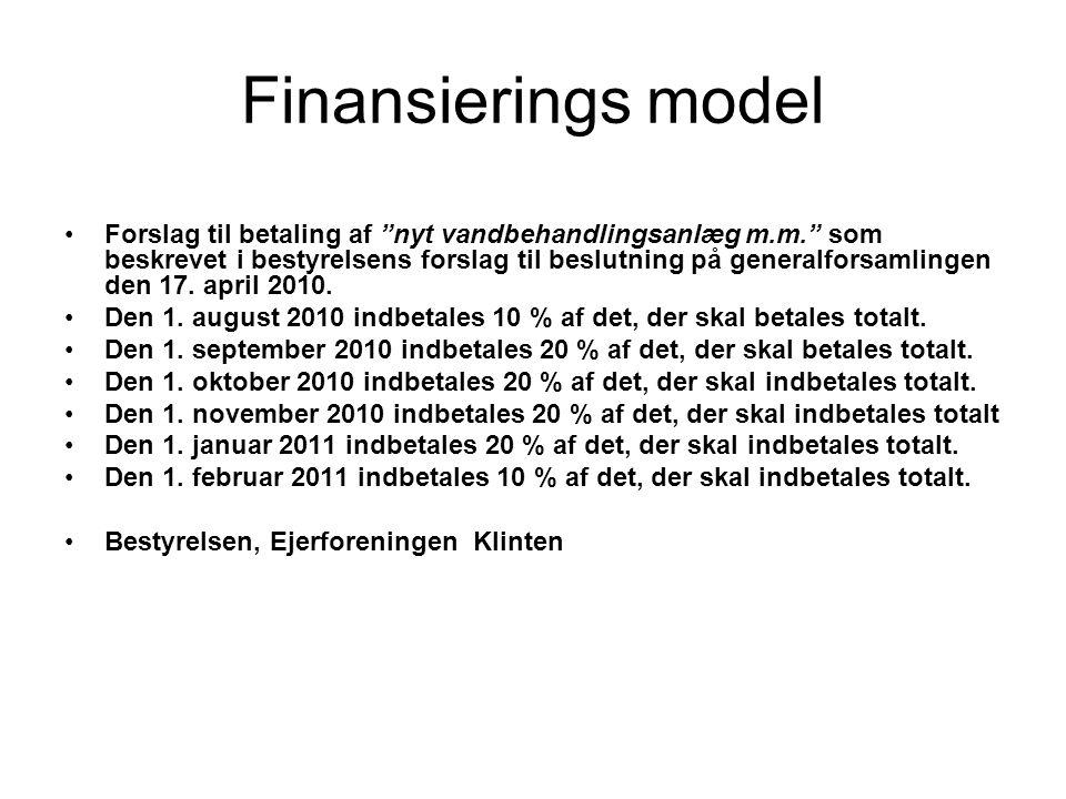 Finansierings model