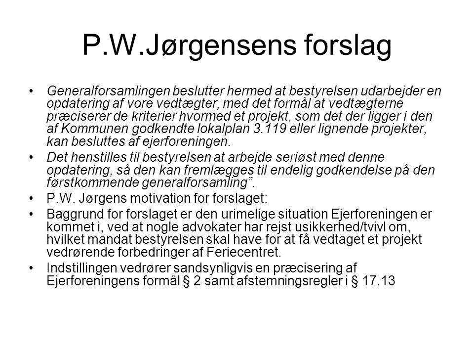 P.W.Jørgensens forslag