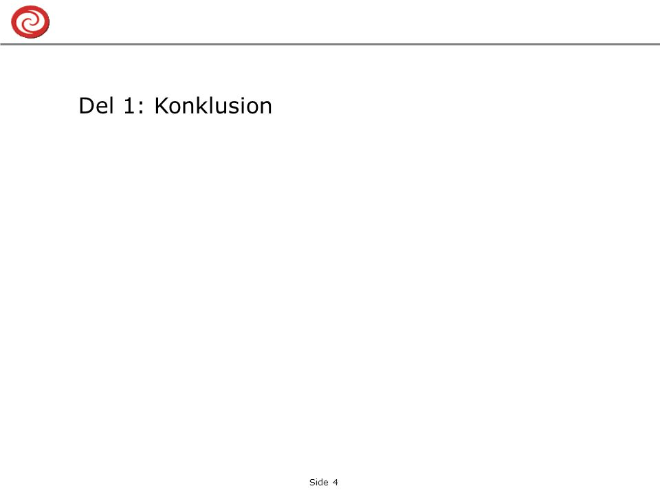 Del 1: Konklusion Side 4