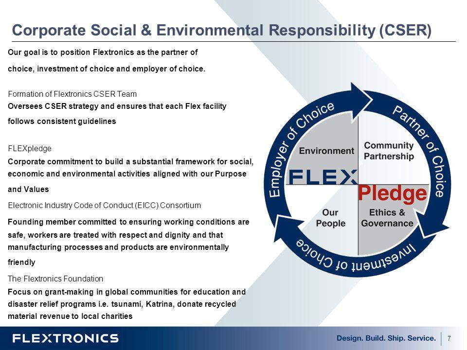 Corporate Social & Environmental Responsibility (CSER)