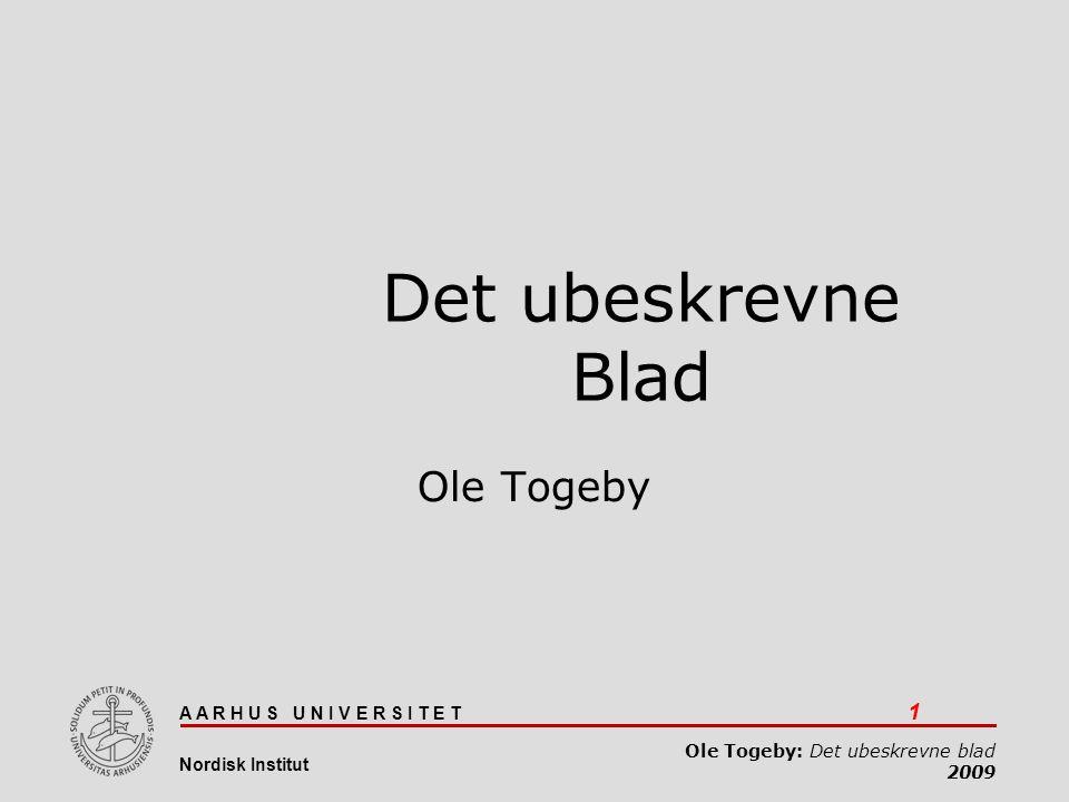 Det ubeskrevne blad Ole Togeby