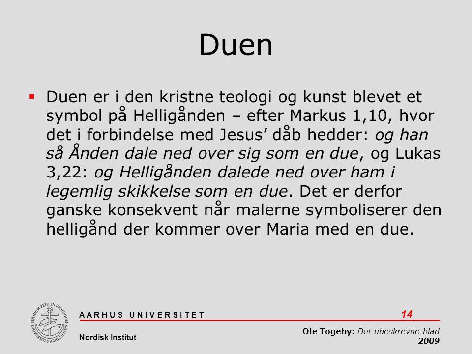 Det ubeskrevne blad 03-04-2017. Duen.