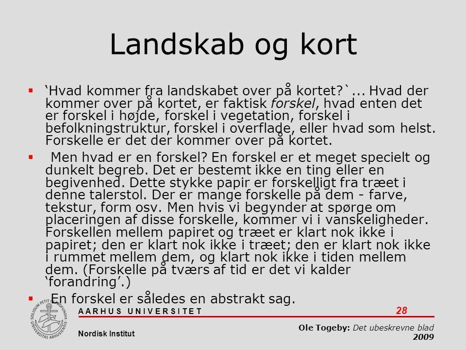 Det ubeskrevne blad 03-04-2017. Landskab og kort.