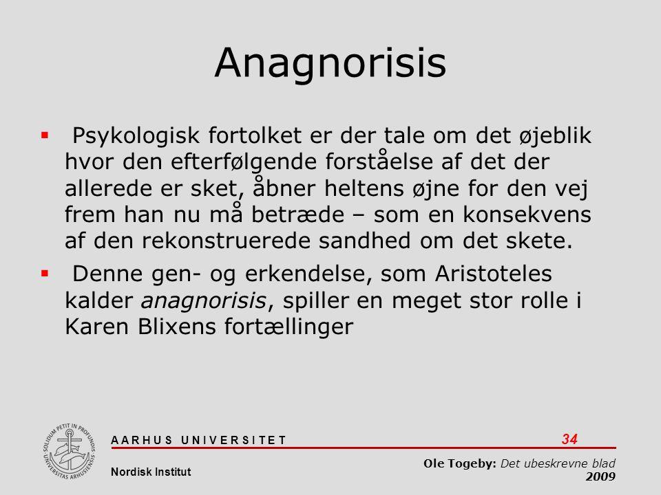 Det ubeskrevne blad 03-04-2017. Anagnorisis.