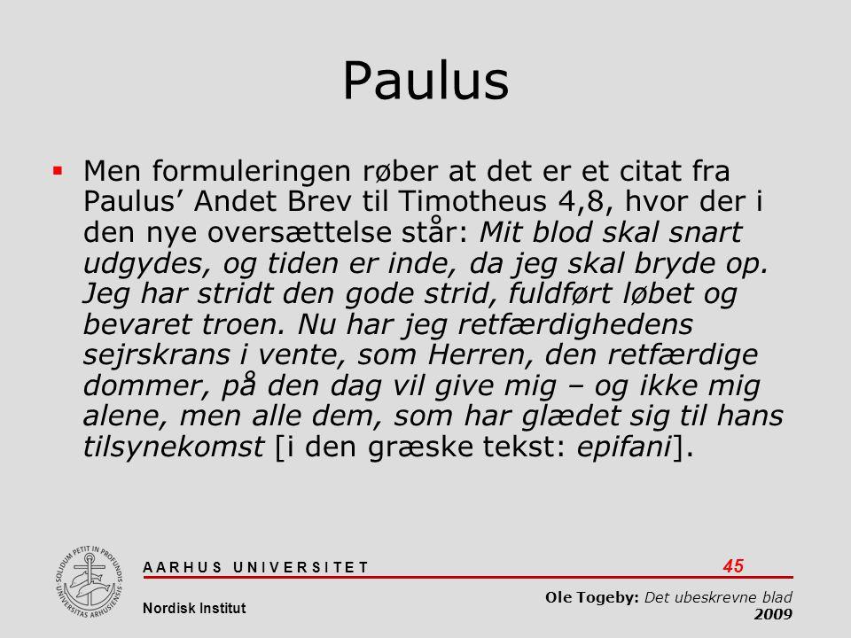 Det ubeskrevne blad 03-04-2017. Paulus.