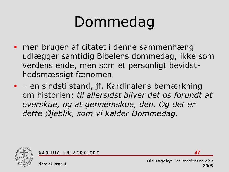 Det ubeskrevne blad 03-04-2017. Dommedag.