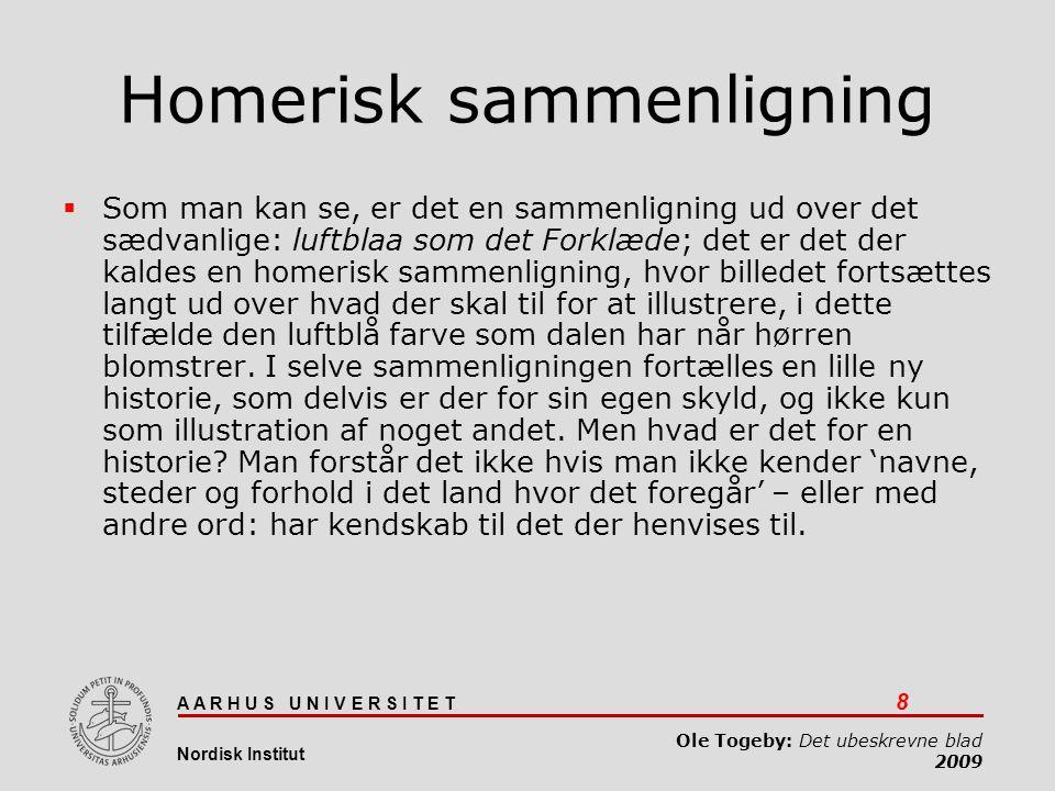 Homerisk sammenligning