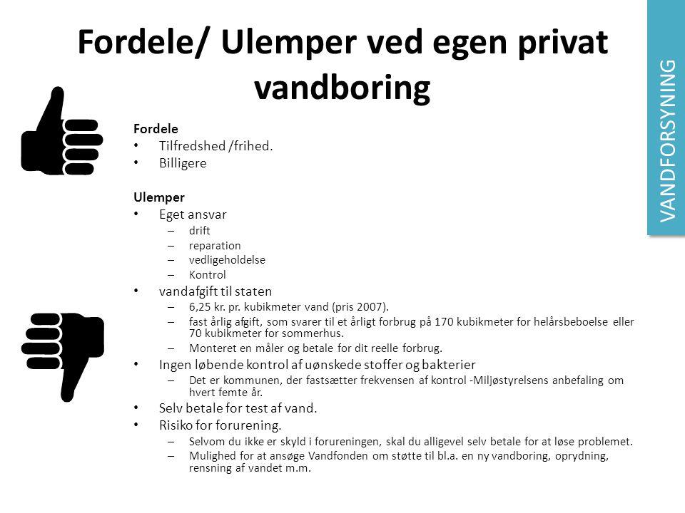 Fordele/ Ulemper ved egen privat vandboring