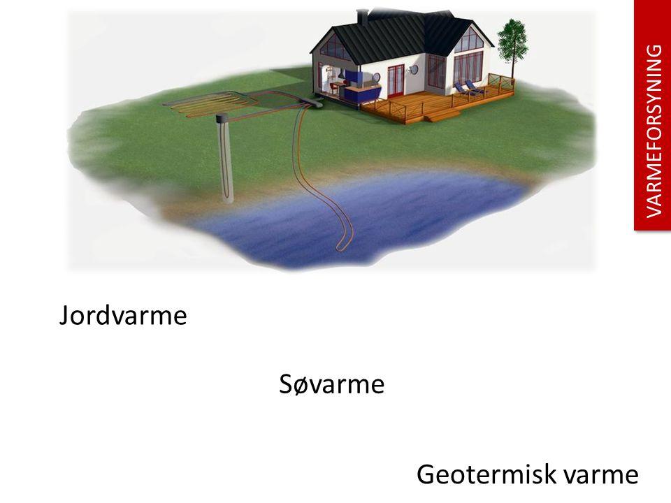 . Jordvarme Søvarme Geotermisk varme VARMEFORSYNING Jordvarme:
