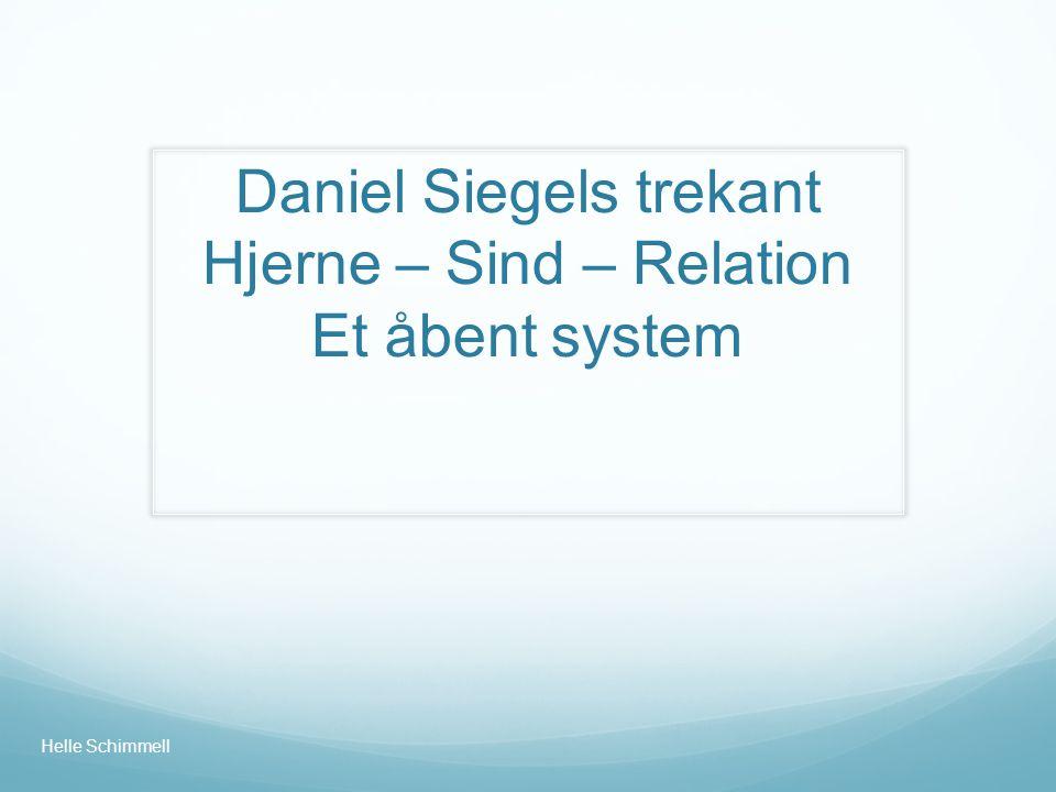 Daniel Siegels trekant Hjerne – Sind – Relation Et åbent system