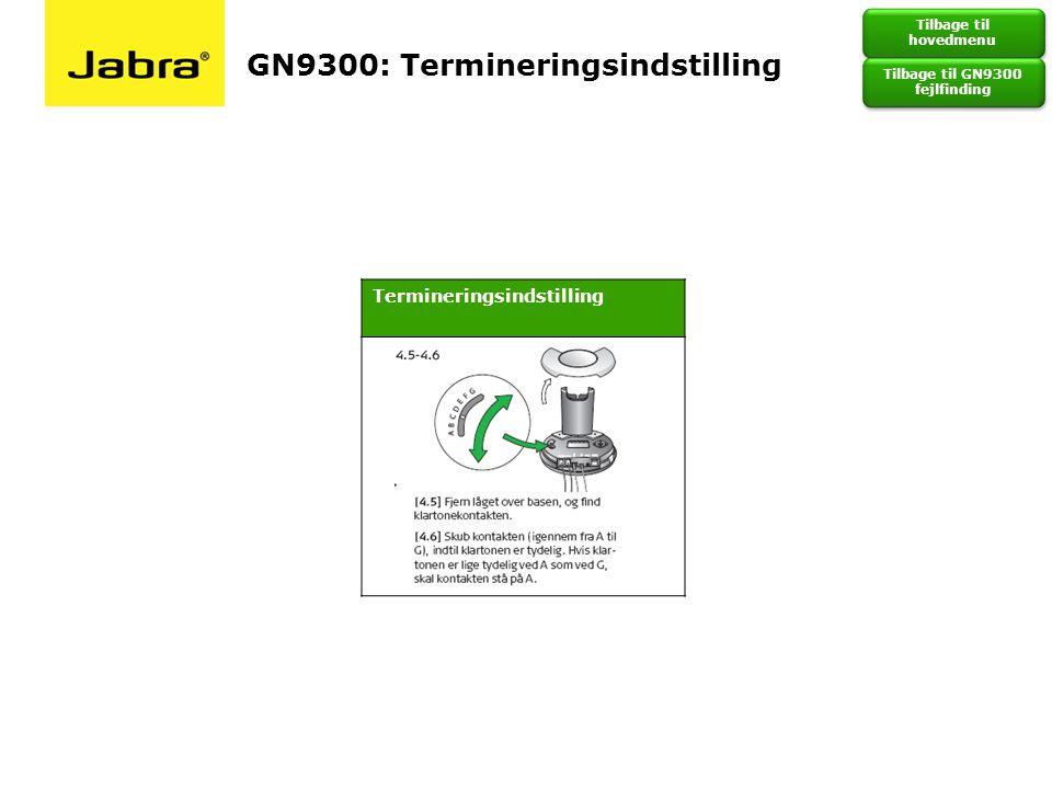 GN9300: Termineringsindstilling