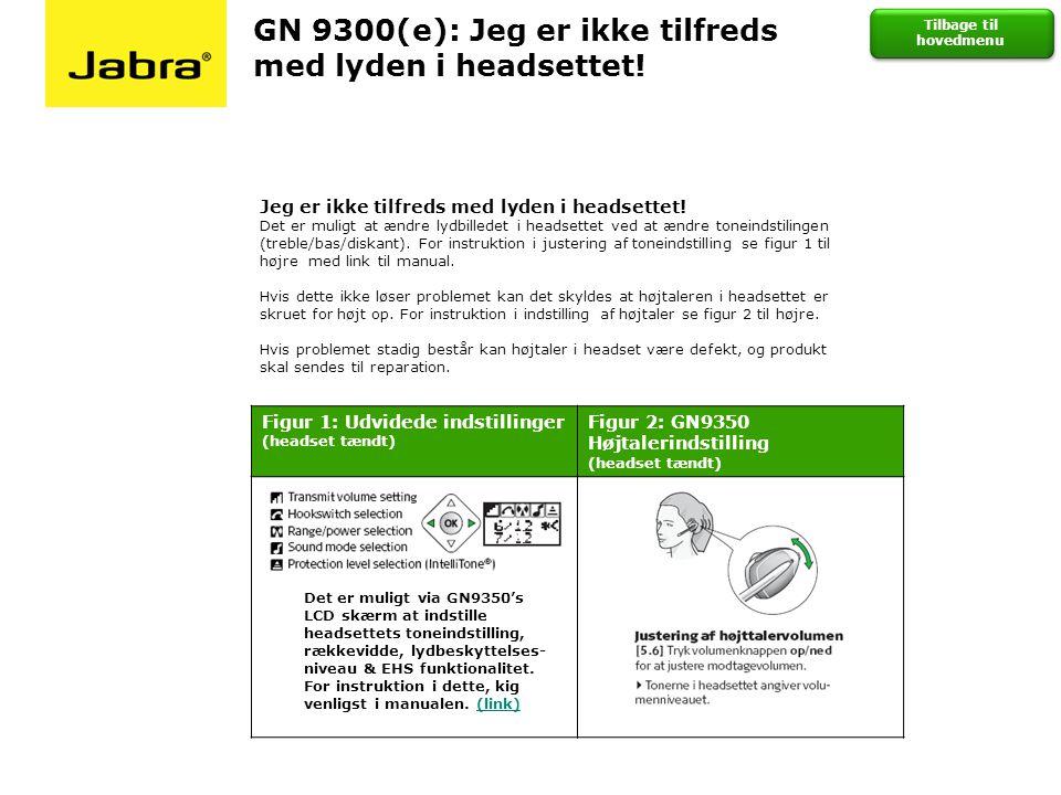 GN 9300(e): Jeg er ikke tilfreds med lyden i headsettet!
