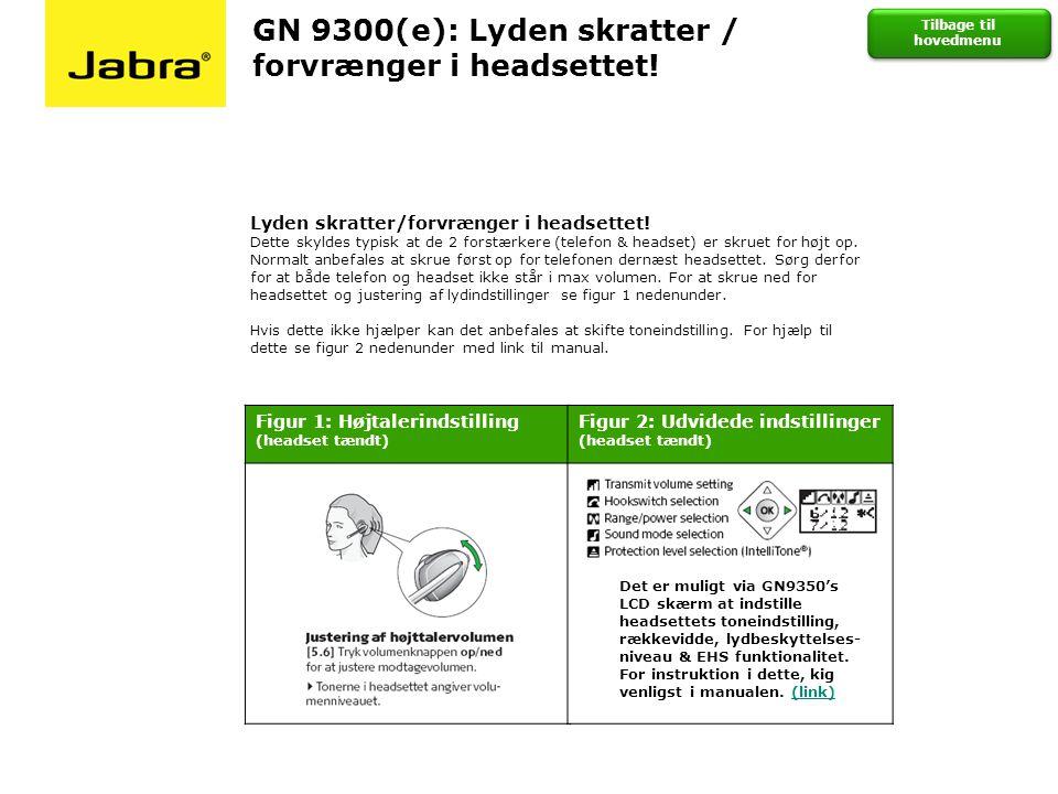 GN 9300(e): Lyden skratter / forvrænger i headsettet!