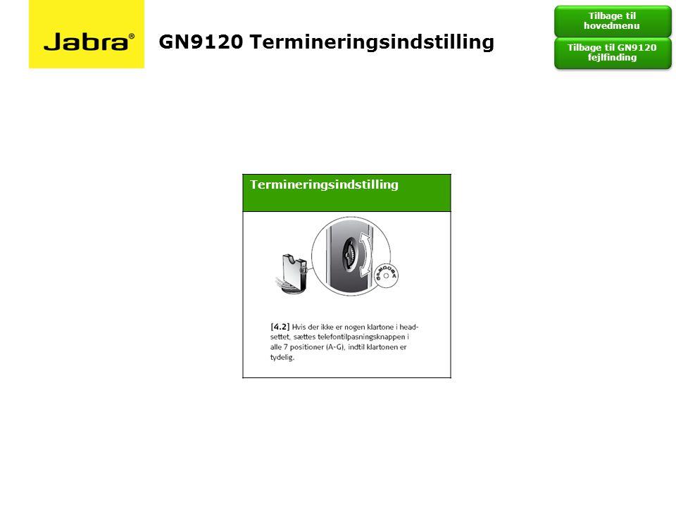 GN9120 Termineringsindstilling