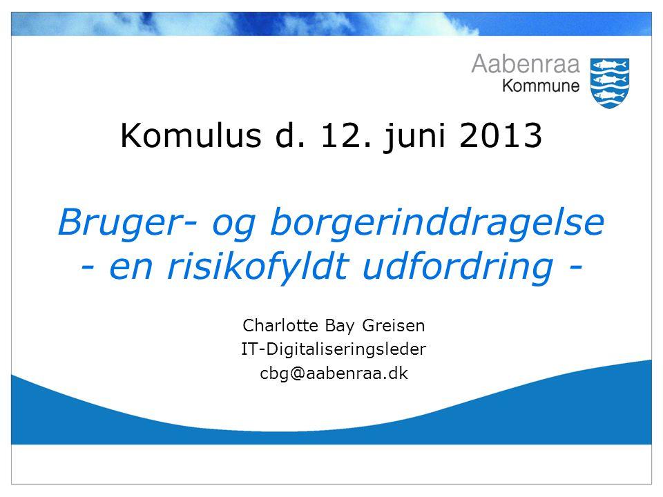 Charlotte Bay Greisen IT-Digitaliseringsleder cbg@aabenraa.dk