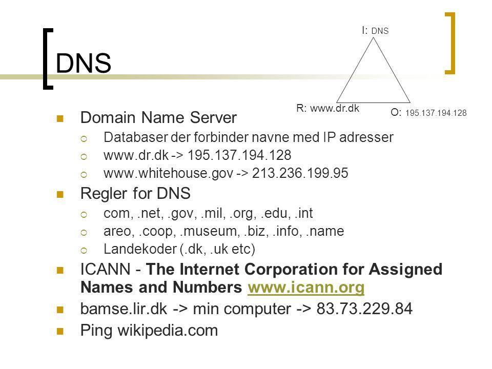 DNS Domain Name Server Regler for DNS