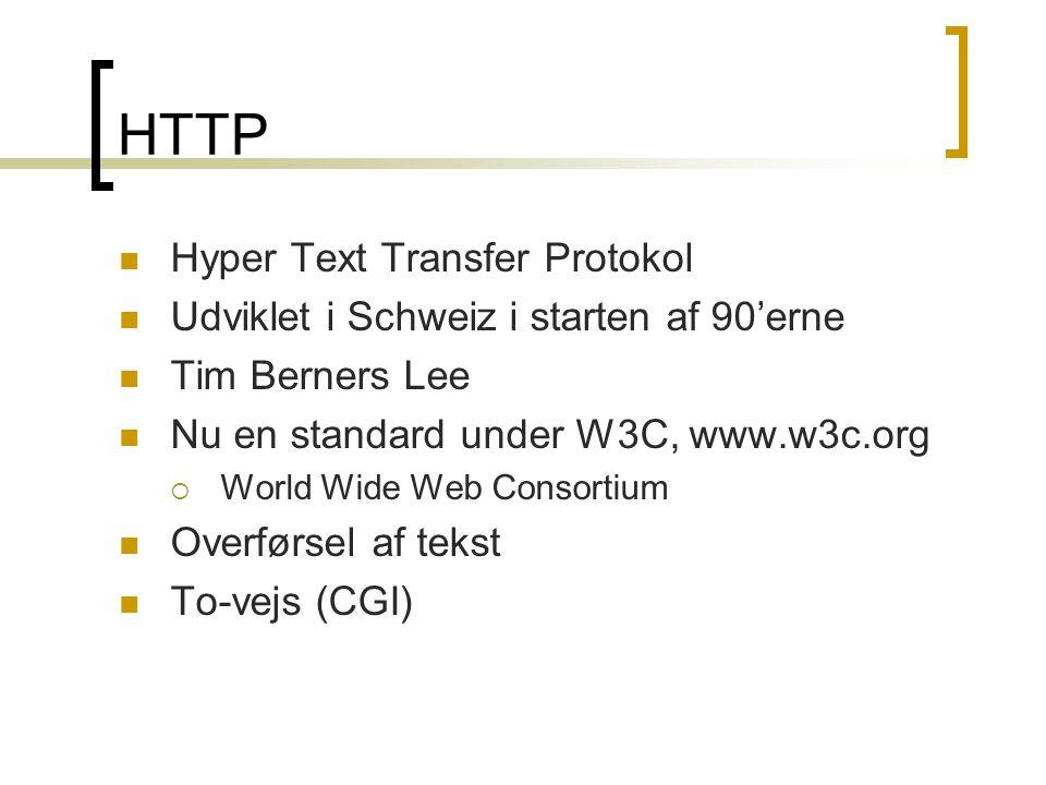 HTTP Hyper Text Transfer Protokol
