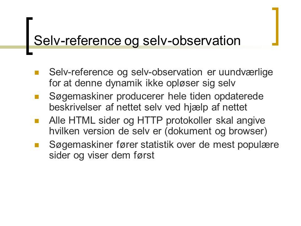 Selv-reference og selv-observation