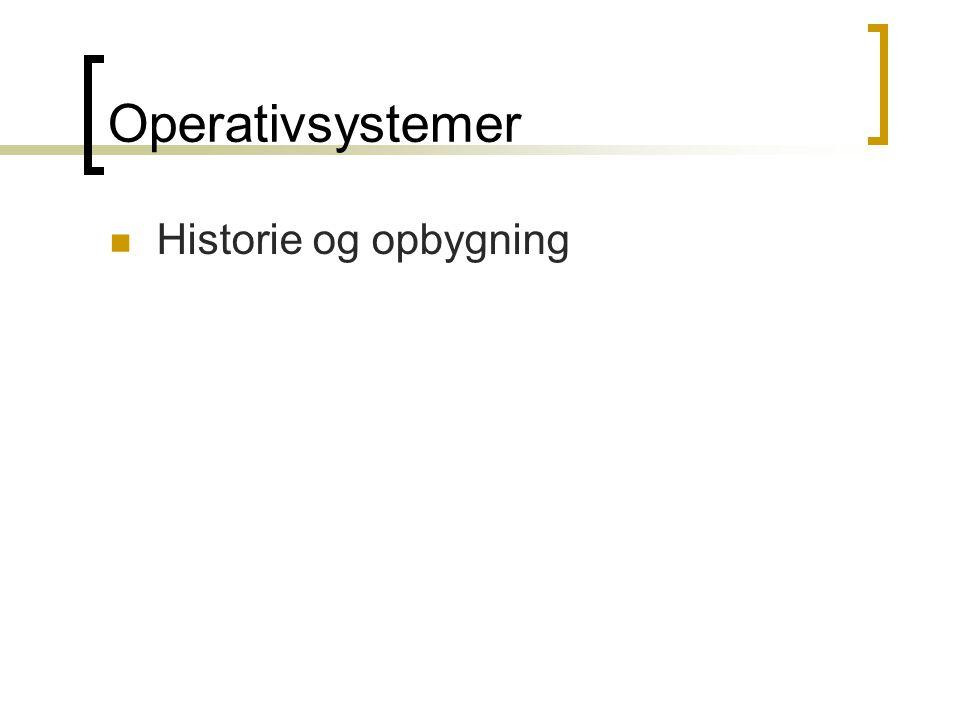 Operativsystemer Historie og opbygning