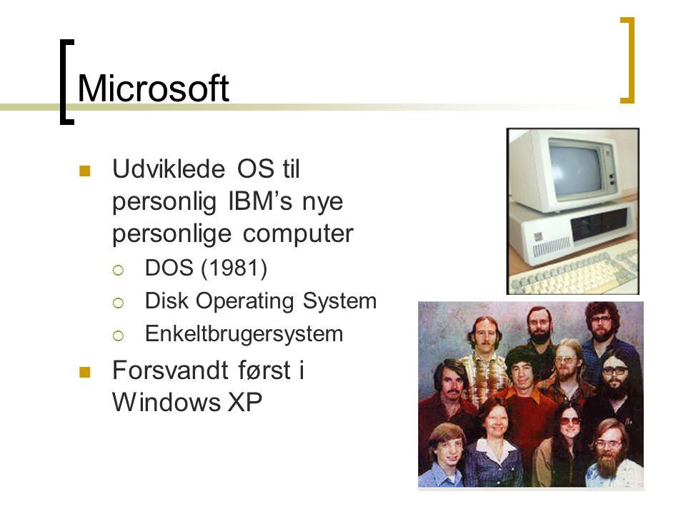 Microsoft Udviklede OS til personlig IBM's nye personlige computer
