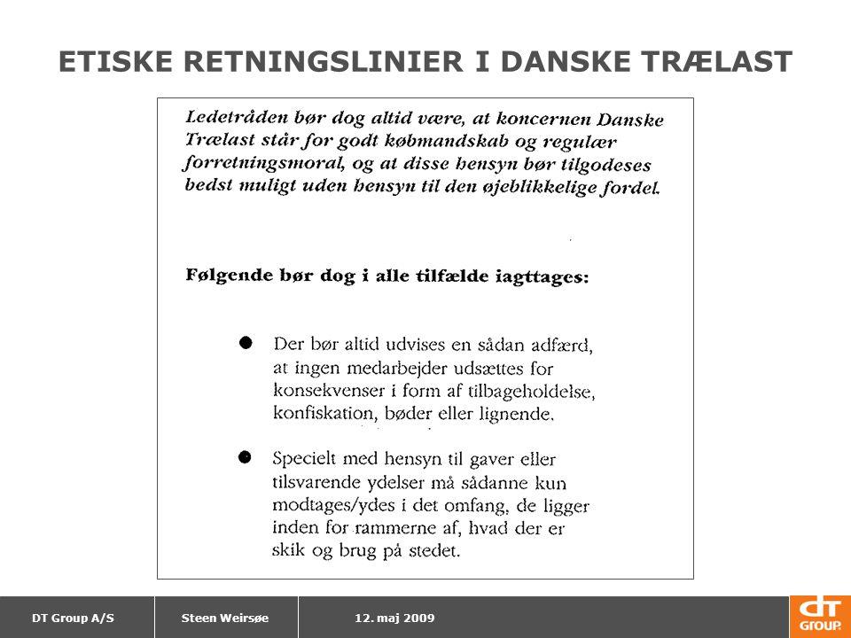 ETISKE RETNINGSLINIER I DANSKE TRÆLAST