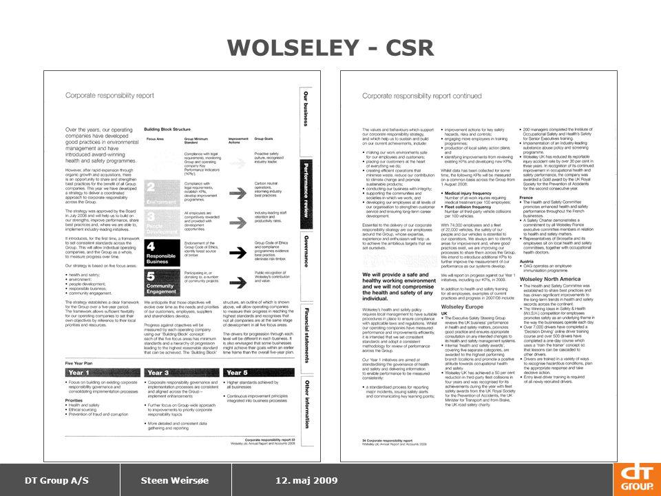 WOLSELEY - CSR Steen Weirsøe 12. maj 2009